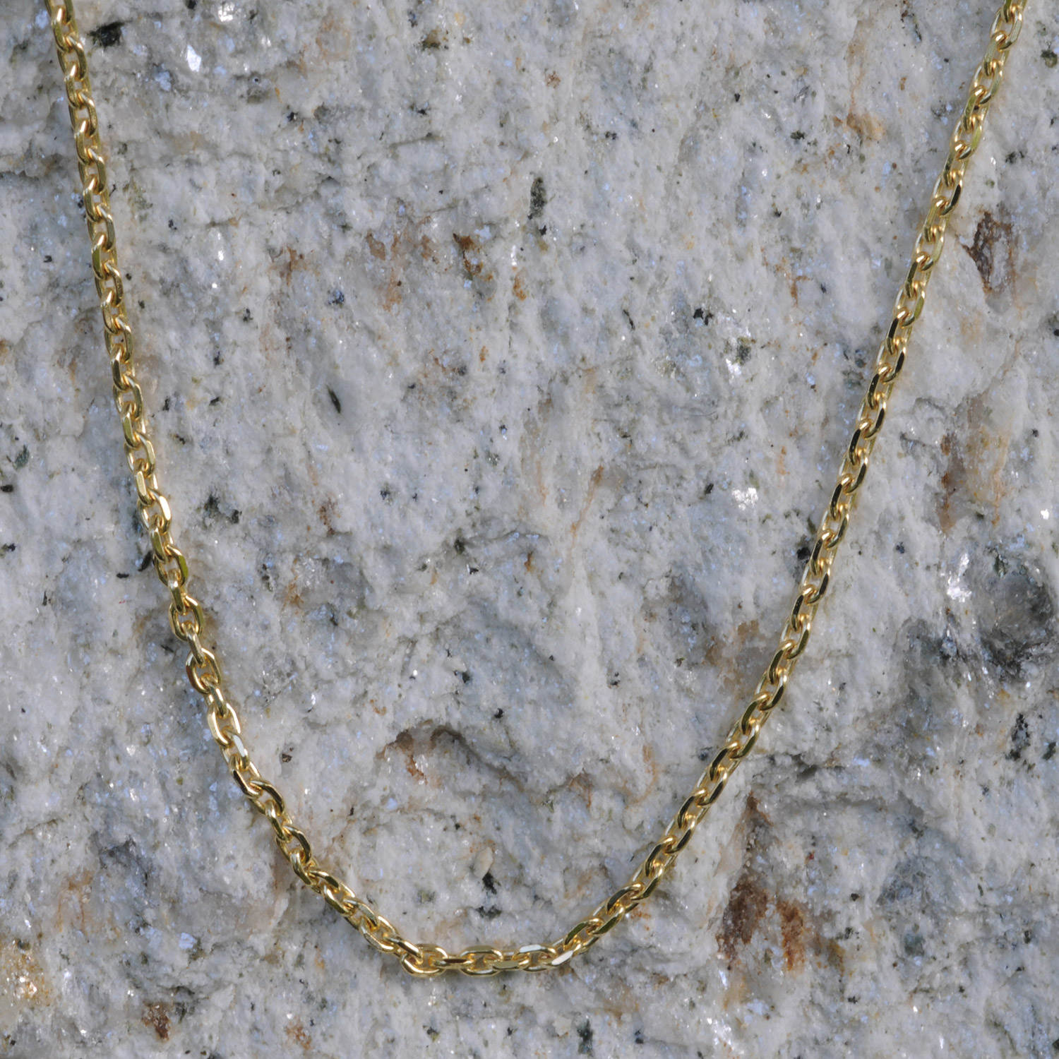 1 3 mm 17,7 inch 750 gold anchor chain 18 kt solid gold high-quality