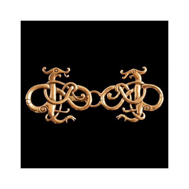 Gewandschmuck Viking Dragons Bronze 38x94 mm