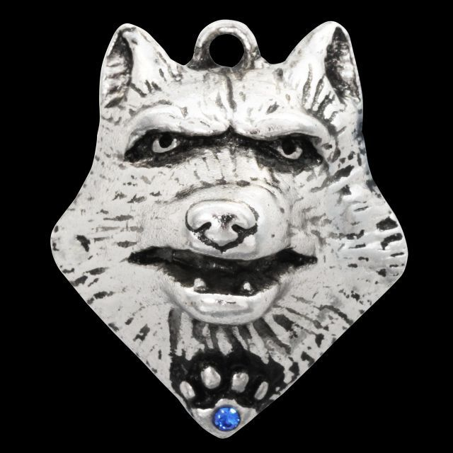 Lupercus Wolf Anhänger Galraedia Gothic Mystic + Kette 25x30mm